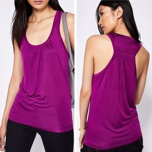 Ted Baker Royal Purple Racerback Mesh Skylon Tank